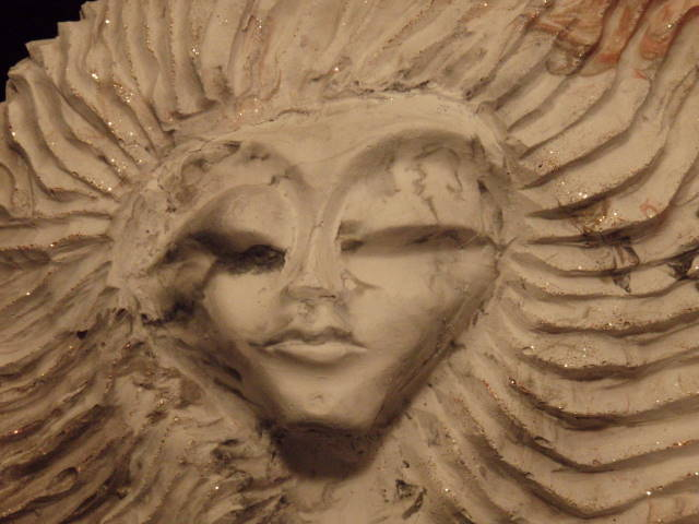 """Only Girl""  - 2012 - Cast Stone - (16 x 23 x 6 in.)"